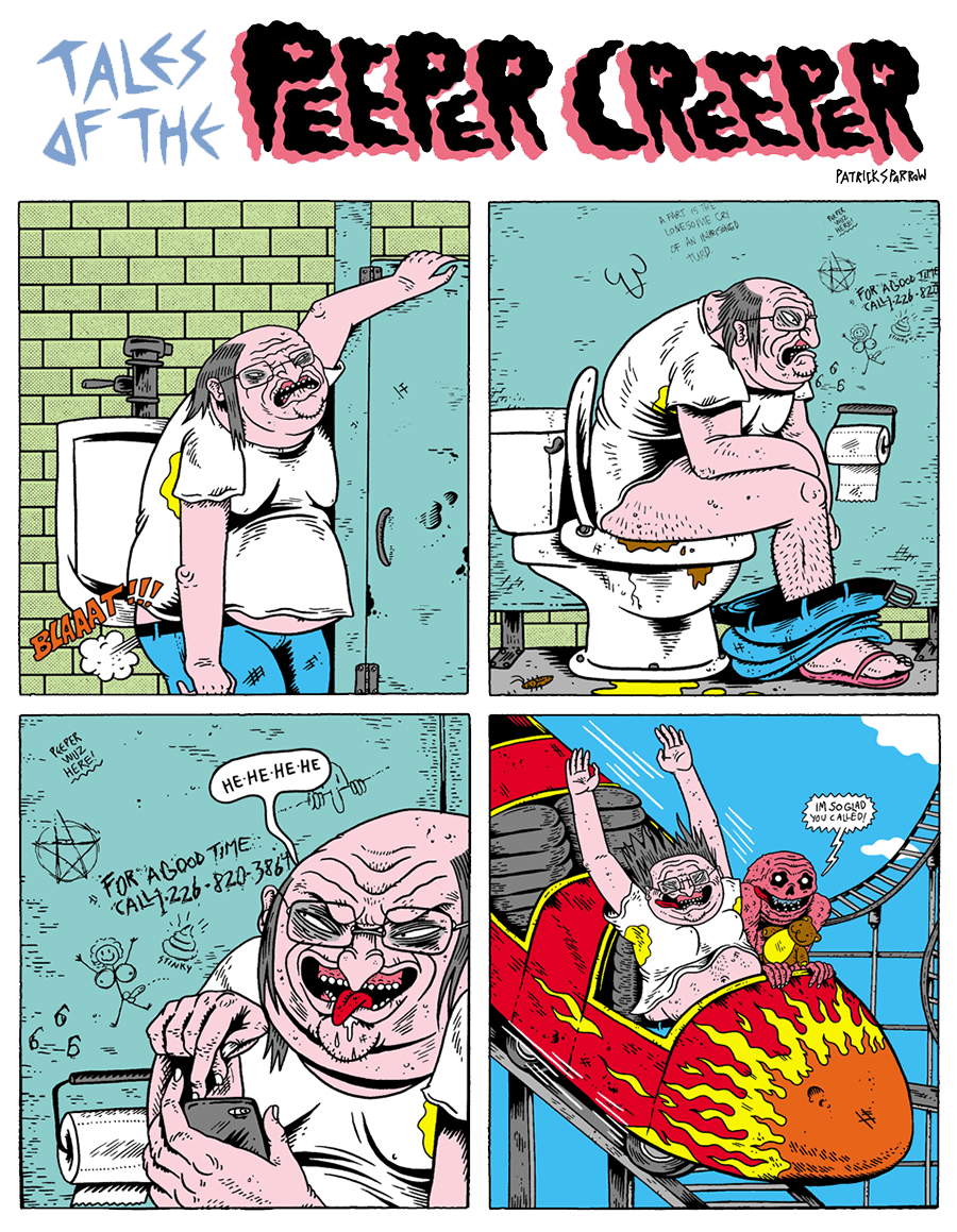 Adult Cartoon Comics adult swim comics - tales of the peeper creeper