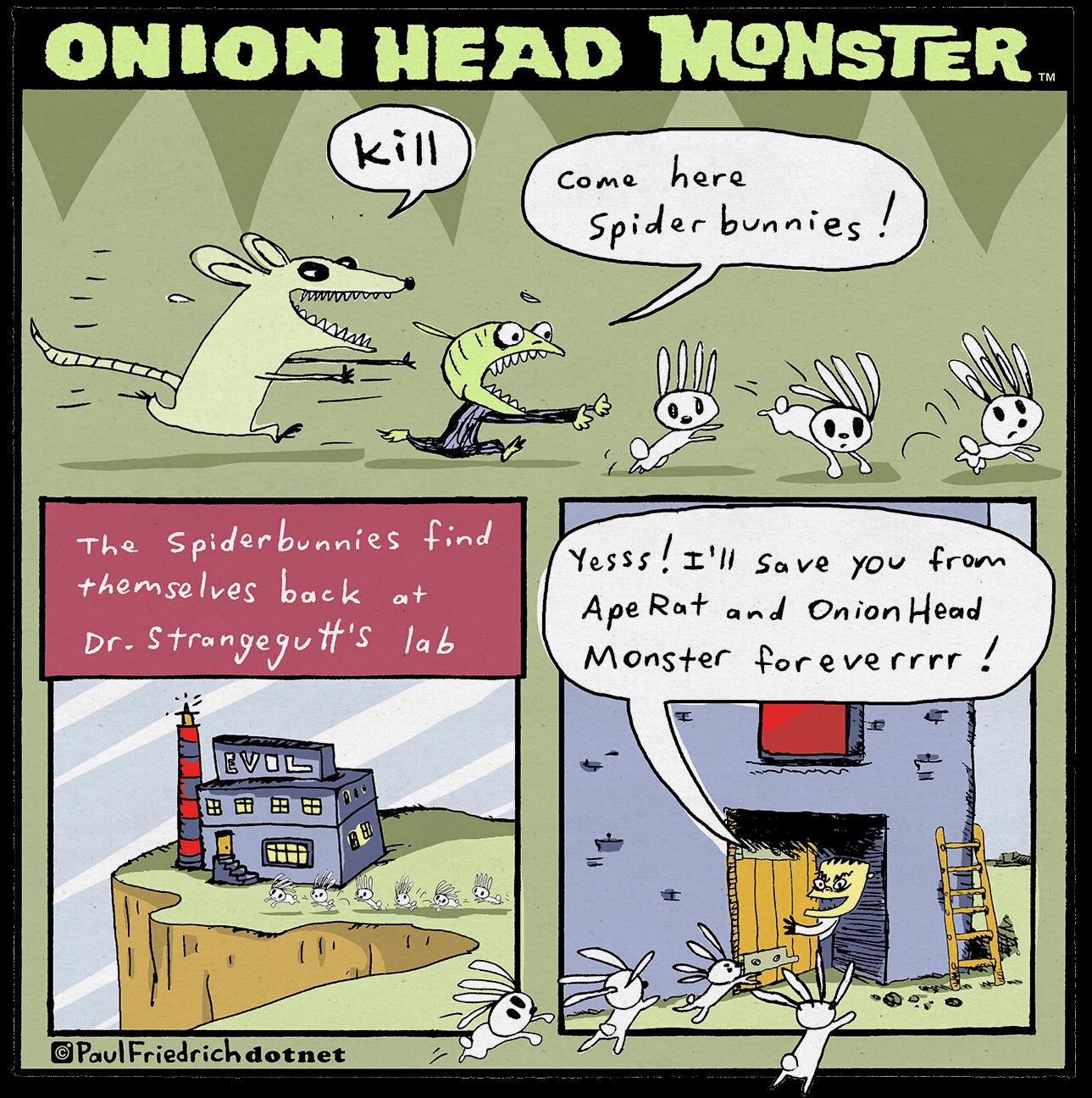 Onion Head Monster by paul-friedrich