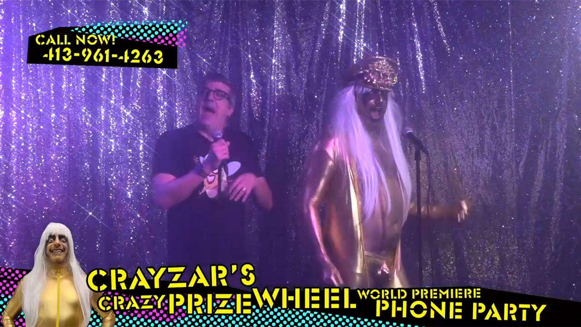 Crayzar's Crazy Prize Wheel Premiere Phone Party